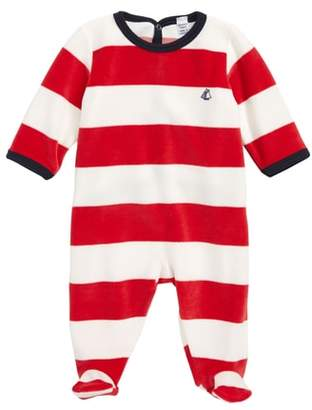 Petit Bateau Tremolo Stripe Fleece Footie