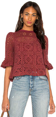 See by Chloe Ruffle Sleeve Lace Top