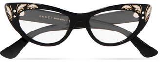 Gucci Cat-eye Acetate Optical Glasses - Black