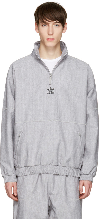 adidas Originals Grey Zip Wind Jacket