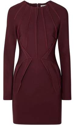 Thierry Mugler Pintucked Stretch-cady Mini Dress