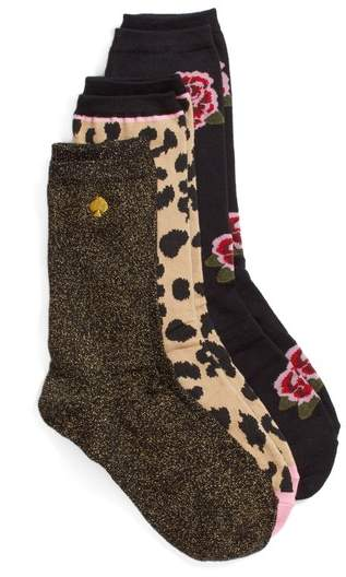 Kate Spade New York Rose 3-Pack Trouser Socks