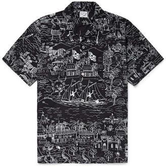 orSlow Camp-Collar Printed Cotton Oxford Shirt