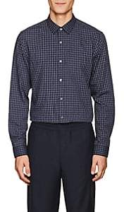 Theory Men's Murrary Checked Cotton Flannel Shirt - Md. Purple