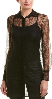Valentino Lace Silk Top