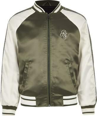 River Island Mens Boys Khaki RI bomber jacket