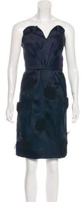 Oscar de la Renta Strapless Cocktail Dress black Strapless Cocktail Dress