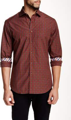 James Tattersall Barnet Jacquard Plaid Modern Fit Shirt
