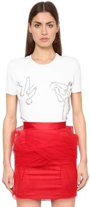 Y/Project Y Project Crystals Embellished Rib Kit T-Shirt