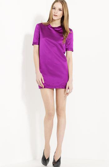 Burberry Prorsum Back Zip Satin Dress