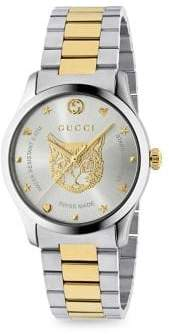 Gucci G-Timeless Steel Bracelet Watch