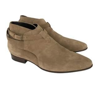 Saint Laurent Beige Suede Boots
