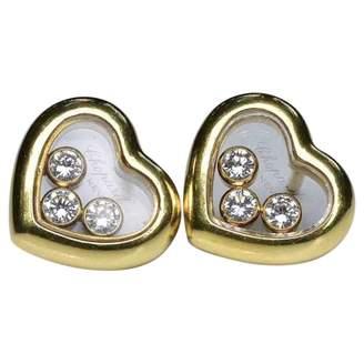 Chopard Happy Diamonds yellow gold earrings