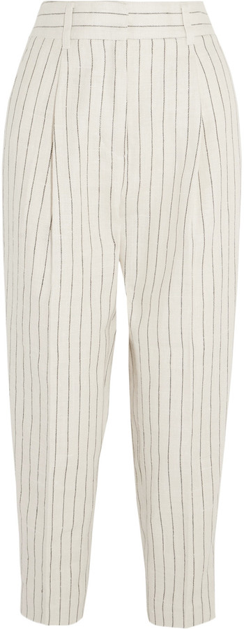 3.1 Phillip Lim 3.1 Phillip Lim Pinstriped linen wide-leg pants