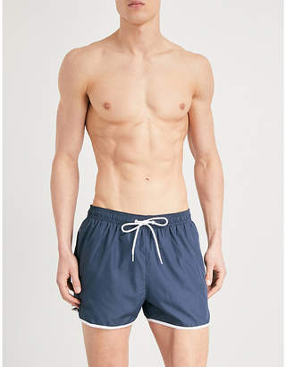 Calvin Klein Runner logo-print shell swim shorts
