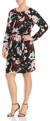 Junarose Plus Zeenan Long-Sleeve Floral-Print Dress