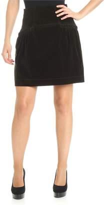 Alberta Ferretti Velvet Skirt