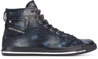 Diesel distressed hi-top sneakers