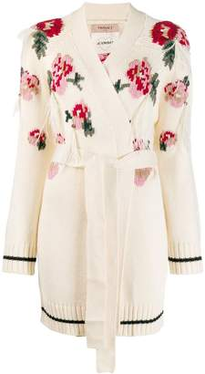 Twin-Set knitted floral cardigan