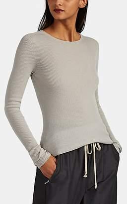 Rick Owens Women's Rib-Knit Wool Sweater - Light Gray