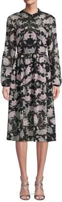 AVEC LES FILLES Floral A-Line Dress