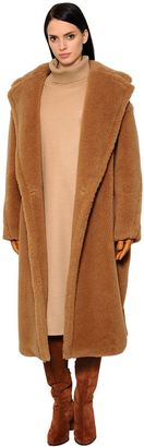 Max Mara Oversized Camel Shearling Coat