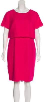 Karl Lagerfeld Tweed Short Sleeve Knee-Length Dress