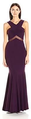 Betsy & Adam Women's Illusion Cut Out Gown $248 thestylecure.com