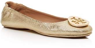4812554571e Tory Burch Gold Metallic Leather Women s flats - ShopStyle