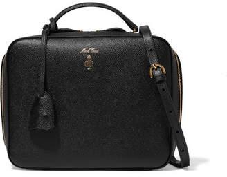 Mark Cross Laura Textured-leather Shoulder Bag - Black
