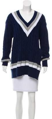 Public School Slit-Accented Long Sleeve Sweater