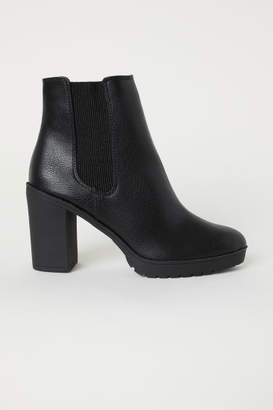 H&M Warm-lined Ankle Boots - Black