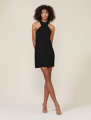 Halston Fitted Crossneck Dress