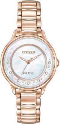 Citizen 30mm Rose Golden Circle of Time Diamond Bracelet Watch