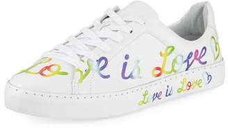 Schutz Love is Love Leather Sneakers