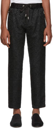 Dolce & Gabbana Black Jacquard Trousers