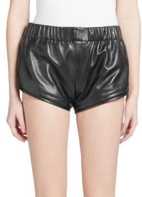 Saint Laurent High-Waist Athletic Mini Shorts