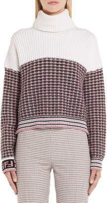 Fendi Microcheck Wool & Cashmere Sweater