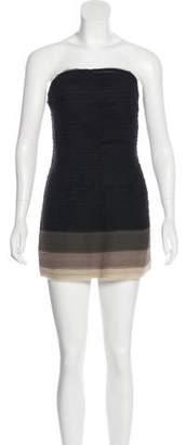 Alice + Olivia Raw Edge Silk Dress w/ Tags