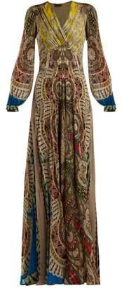 Etro Bloodstone Paisley Print Silk Gown - Womens - Multi