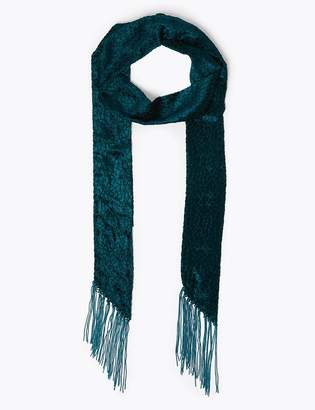 Marks and Spencer Fringed Skinny Scarf