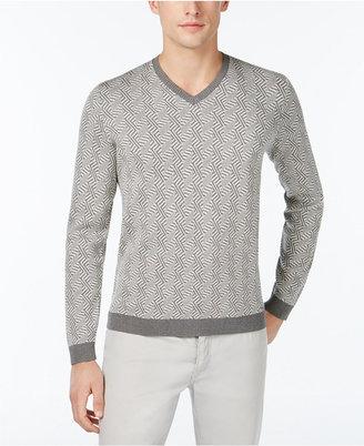 Calvin Klein Men's Slim-Fit Jacquard Sweater $128 thestylecure.com