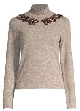 PatBO Embellished Turtleneck Sweater