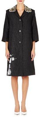 Maison Margiela Women's Cloqué Coat-BLACK $4,765 thestylecure.com