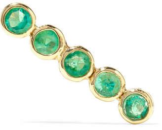 Lee Grace 14-karat Gold Emerald Earring
