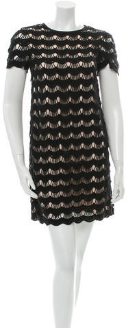 Kate Spade Kate Spade New York Short Sleeve Cutout- Accented Dress