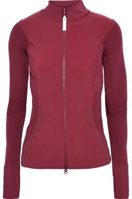 adidas by Stella McCartney Run Ribbed Knit-paneled Fleece Track Jacket