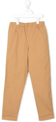 Familiar flat front trousers