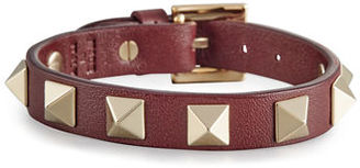 Valentino Small Rockstud Leather Bracelet $245 thestylecure.com