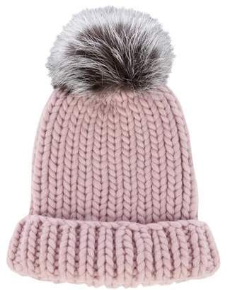 Eugenia Kim Wool Fur-Trimmed Beanie